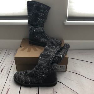 Ugg classic cardy sequin boots in gray (7)